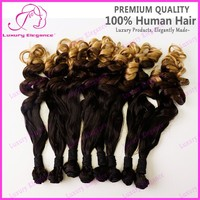 Hot Sale Sew In Human Hair Weave Ombre Colored Indian Hair Bundles