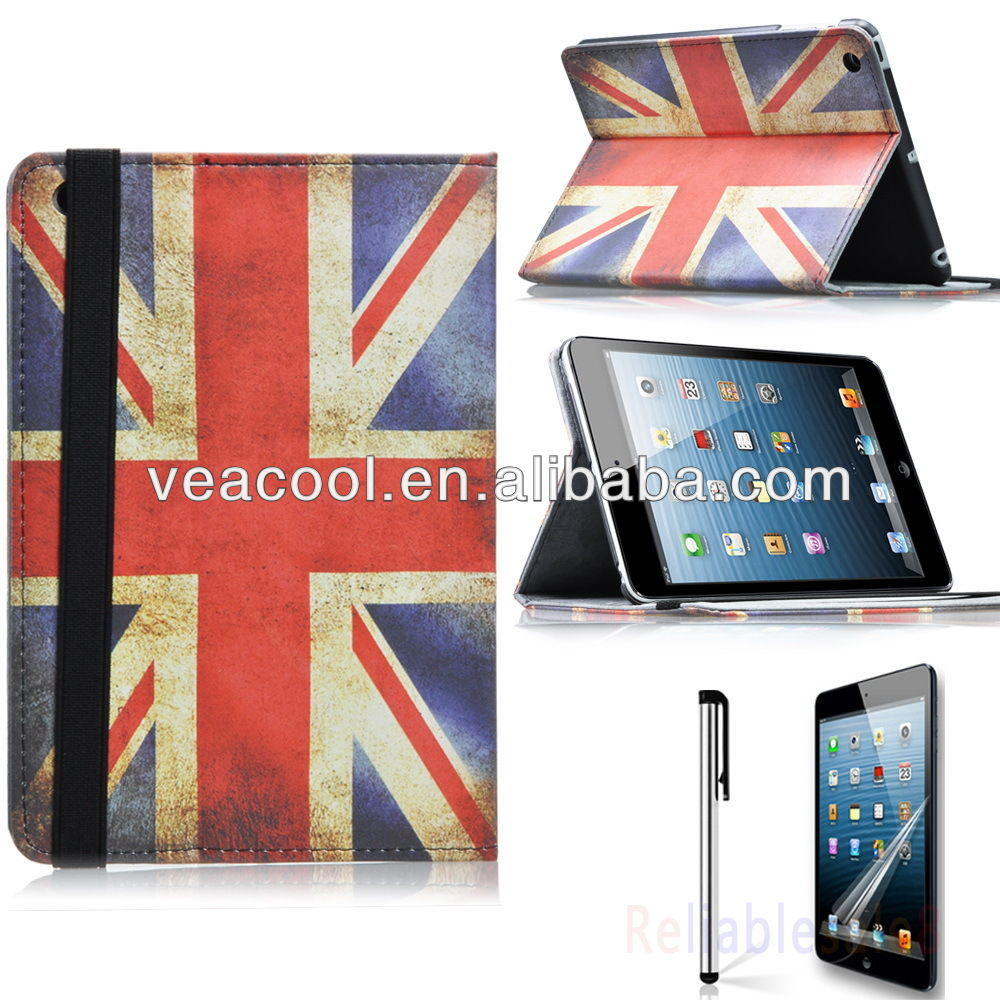 US UK Flag Stand Pouch Case Cover for Apple iPad Mini 2 2nd 2Gen Retina