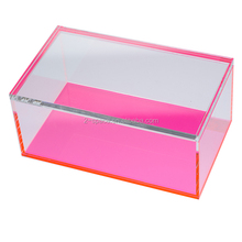 Perspex Treasure Collection Box Home Use Acrylic Neon Block Jewelry Storage Box