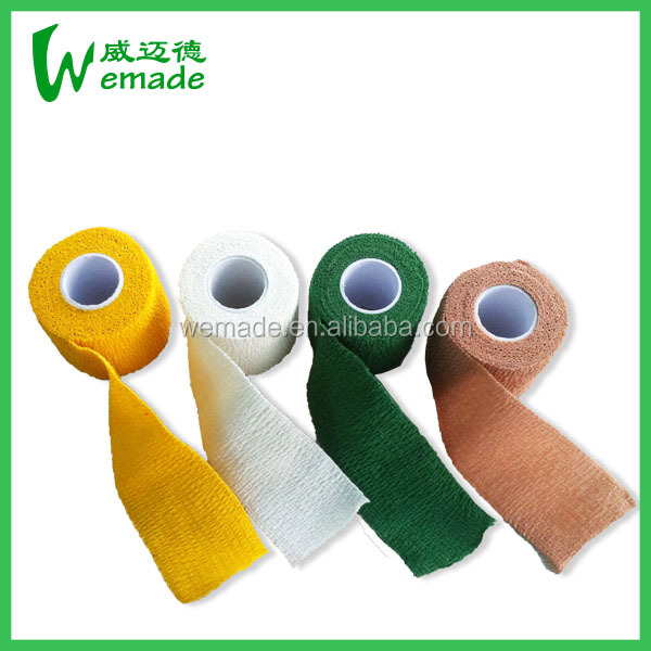Healthcare/Medical Cotton Self-Adhesive Elastic Bandage Cotton Latex Free Bandage with Competitive Price
