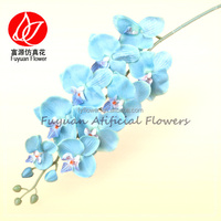 140980 factory price wholesale fake stem flowers blue orchid dendrobium