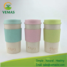 Food Grade High Quality Colorful plastic coffee travel mug with lid and holder
