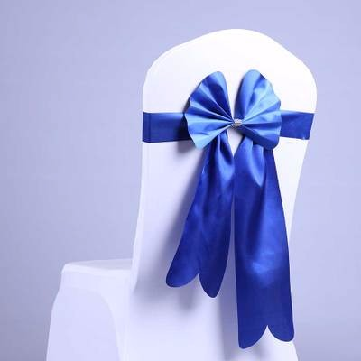 FACTORY PRICE!!! pre-tied satin fabric chair sash