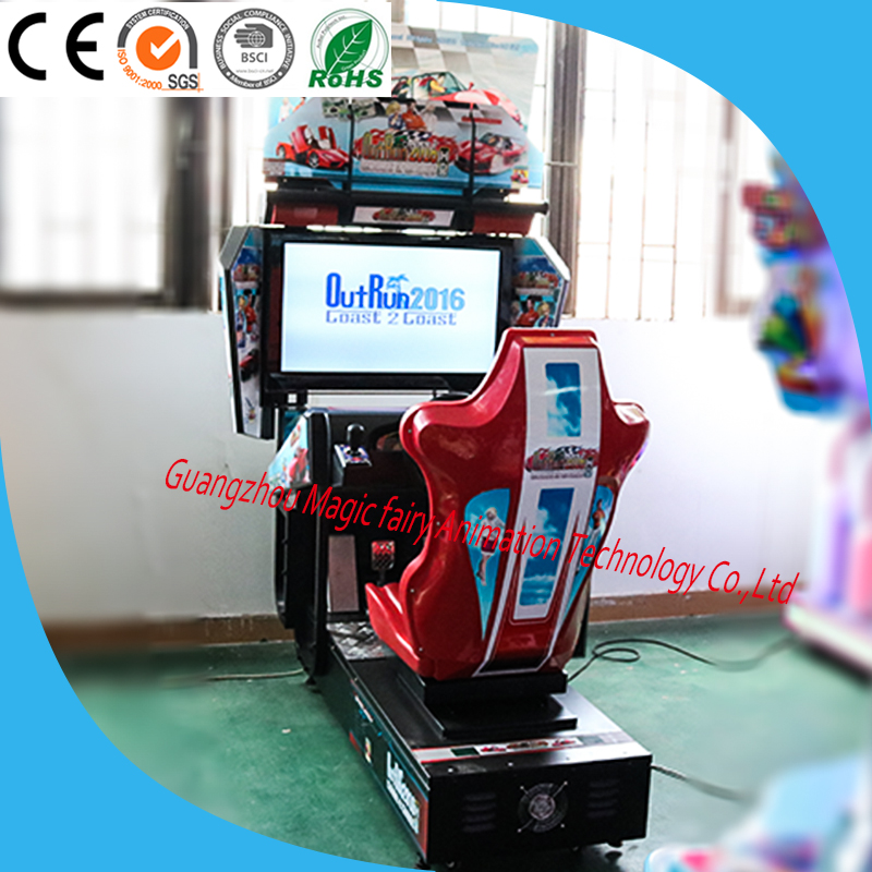 outrun racing arcade machine kids coin operated driving machine for sale