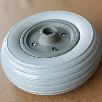 China Supplier Polyurethane Foam Filled Flat Free Solid Wheel