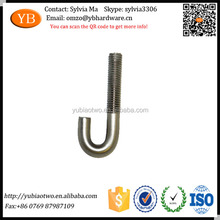 Factory Custom Made M16 Threaded Stainless Steel J Bolts
