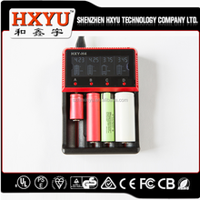 4 slot LED display smart battery charger 18650 16340 18350 aa/aaa battery charger li-ion nimh/nicd power tool battery charger