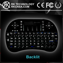 RK Best Quality Mini Keypad with Touchpad Real Rii i8 Wireless Keyboard With Backlit