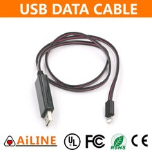 AiLINE Fast Delivery New Lighting Flowing Flat Micro USB Cable EL Wire