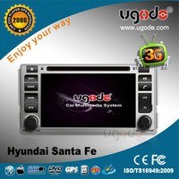 OEM CE certificate touch screen car audio for Hyundai Santa Fe dvd gps player navigation system 2006-2012