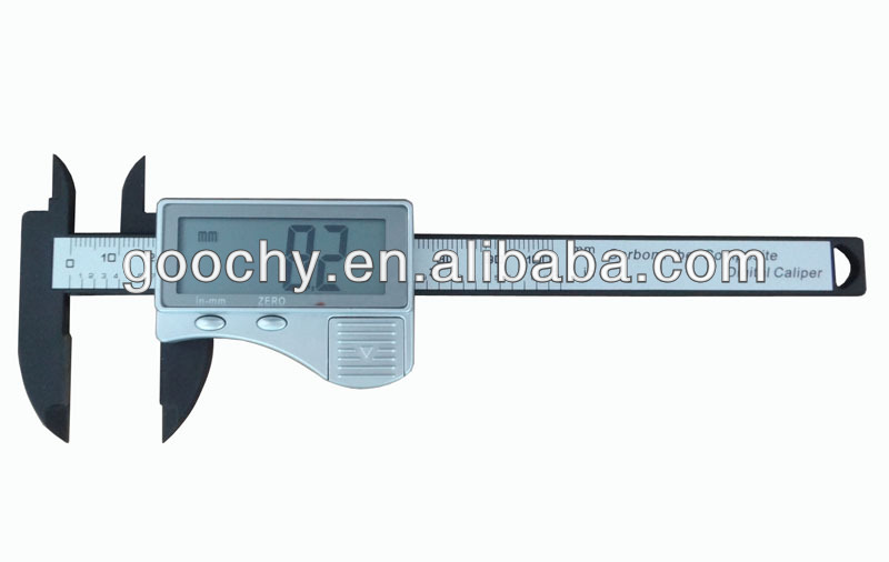 carbon fiber composites 100mm 0.2mm mini plastic vernier digital caliper