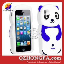 panda cell phone case for iphone 5 panda shaped silicone phone case