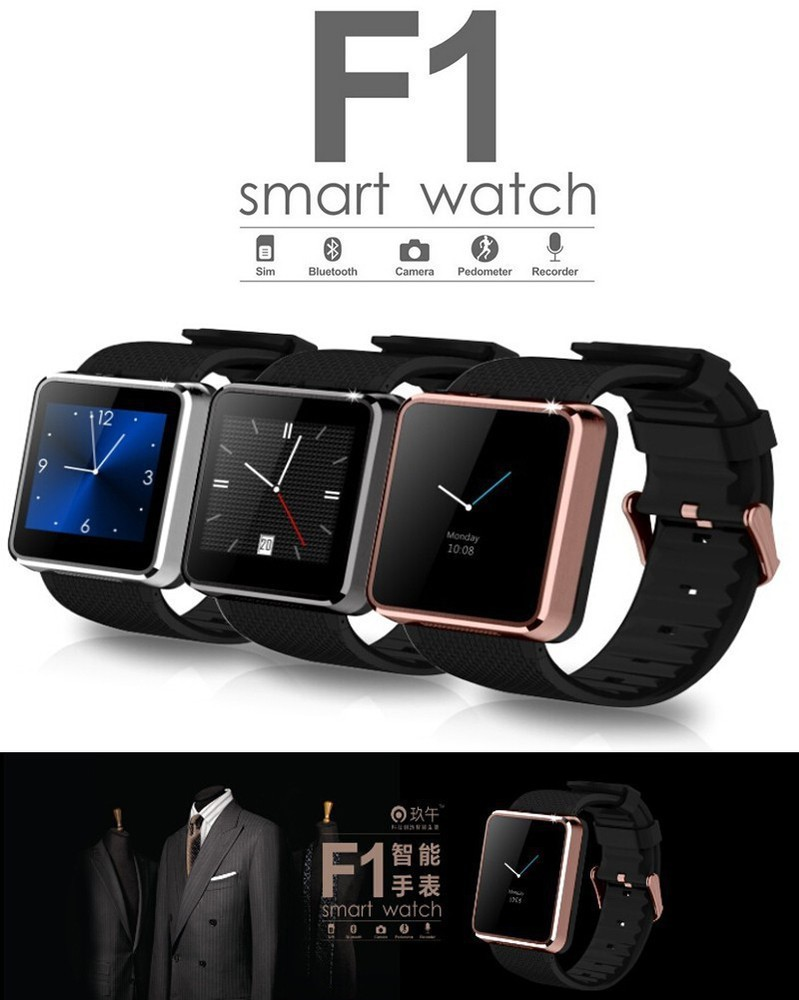 Bluetooth smart watch GVF1 wrist watch smartWatch for iphone6 5 5s 4 4s samsung s5 s4 Note 4 HTC Android phone smartphones 2015