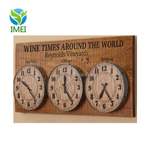 YM07113 wooden signs vintage clock home decor with uv printing in bar style