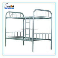 Powder coating surface steel tube bunk bed/metal school bunk bed