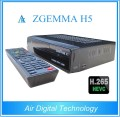 For Italy/UK/Spain Zgemma H5 HEVC/H.265 DVB-S2+DVB-T2/C satellite receiver