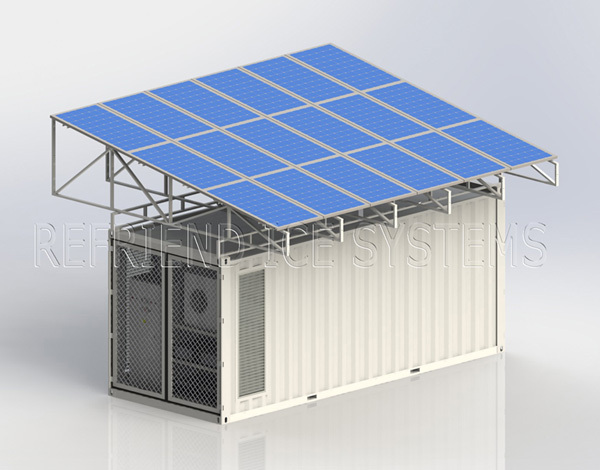 20ft Solar Power Container Freezer and Chiller