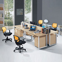 hot sale 4 people seats computer work desk design