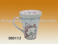 Factory direct wholesale 400cc ceramic tea cup with lid