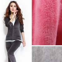 Wholesale Online soft 80% Cotton 20% Polyester Velour fabric for garment