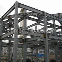 china steel structure flat dome roof prefab villa houses structure