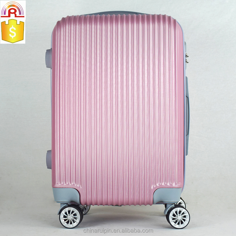 "pinkish purple ABS spinner trolley Luggage Set 20"" 24"" 28"" business suitcase Skylite Spinner luggage"