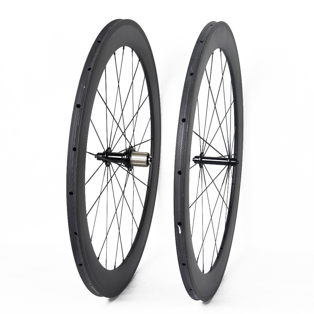 700C carbon road wheelset clincher 60mm depth road bicycle wheels carbon fiber