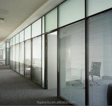 Big office fixed room divider conference room removable soundproof frosted glass room dividers with reasonable price