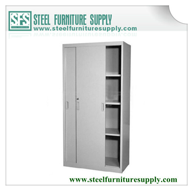 sliding door cabinet with adjustable shelves