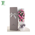 Luxury square cardboard flower paper gift boxes, carton packaging flower box