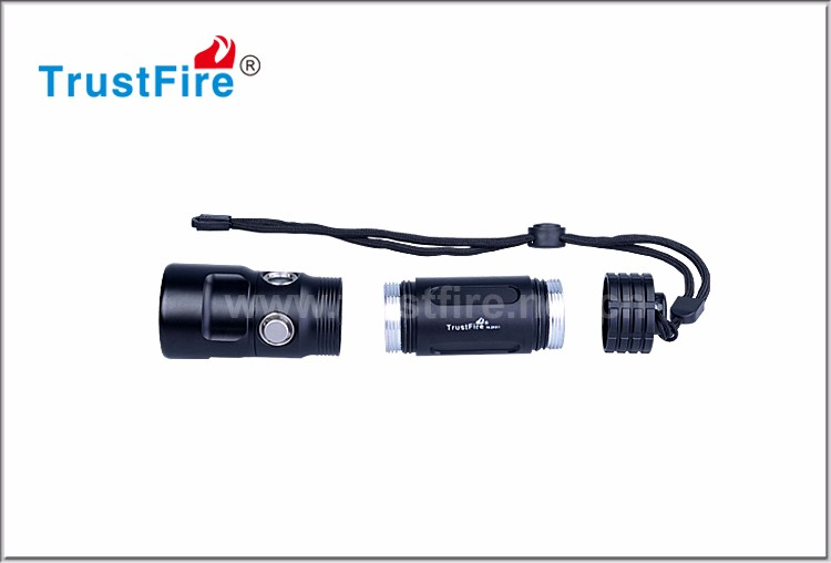 CREE XP-LV6 led operated 800 lumen DF011small power diving torch with Power indicator led