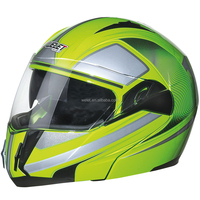 Wholesale motorcycle double visor flip up helmet