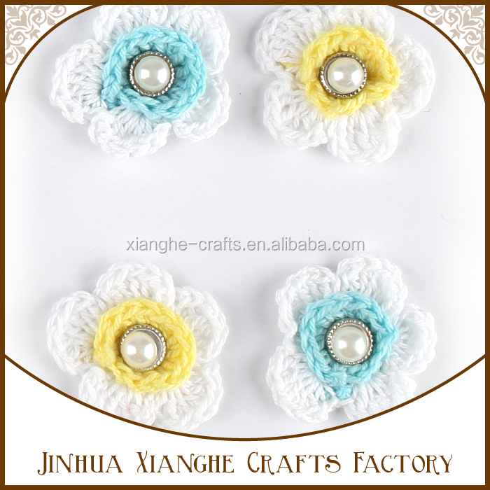 Wholesale assorted colorful crochet flower knitted flower applique