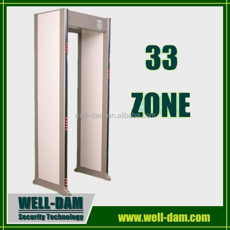 33 zones security door frame metal detector,door frame metal detector price