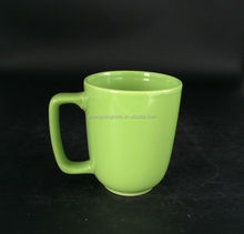 China factory 14 oz colorful ceramic coffee mugs cups milk mug with square handle for promotion