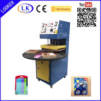 Turnable 3 working benches manual blister sealing machine
