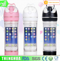 trade assurance plastic joyshaker sport water bottle with mobile phone holder