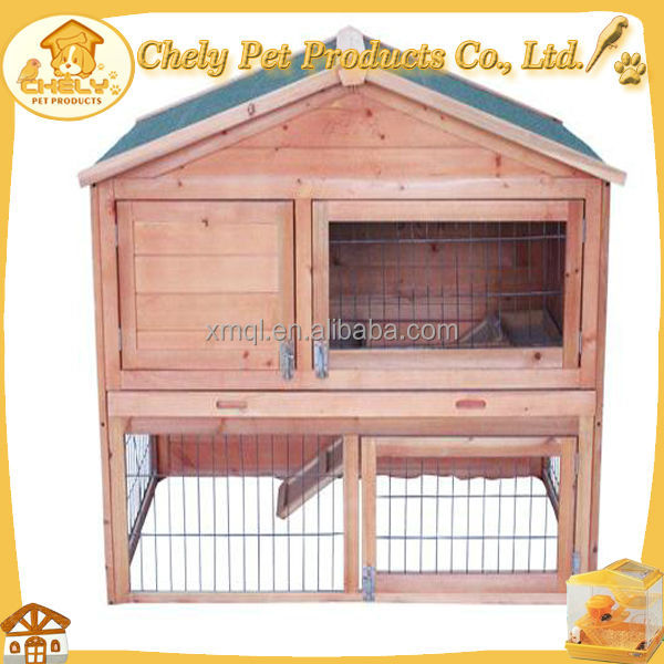 2014 custom rabbit hutch with upper tower keep from humide Pet Cages, Carriers & Houses