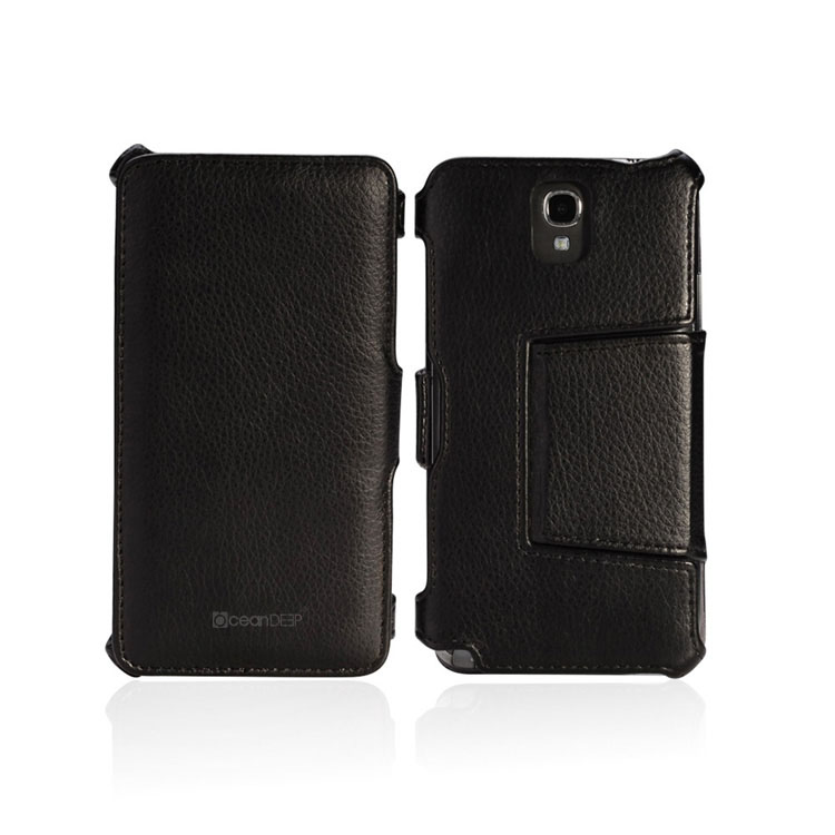 luxury design leatehr flip case for samsung galaxy note 3