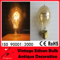 Vintage Antique Style decorative Edison Tungsten Filament bulb 110v 220v 40w 60w E27 A19 carbon filament bulb