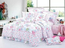 rich flowers 100% cotton bedding set