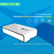 mobile phone LED UV sterilizer with charger function cellphone and jewelry disinfector smartphone aromatherpy UV lamp sanitizer
