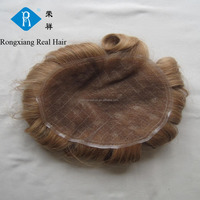 Cheap wholesale price 100% human remy 6 inch hair men toupee