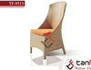 orange Outdoor Furniture single ARMLESS DINING CHAIR