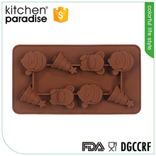 Heat Resistant Eco-friendly silicone Christmas chocolate baking mould