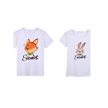 High Quality Custom Printed couple T-shirt With Your Own Design