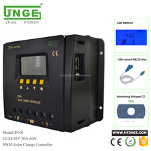 JNGE POWER JN-R intelligent pwm solar charge controller 12v 24v 40v auto 40a 50a 60a