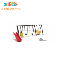 Swing outdoor playground design swing and slide metal swing sets kids