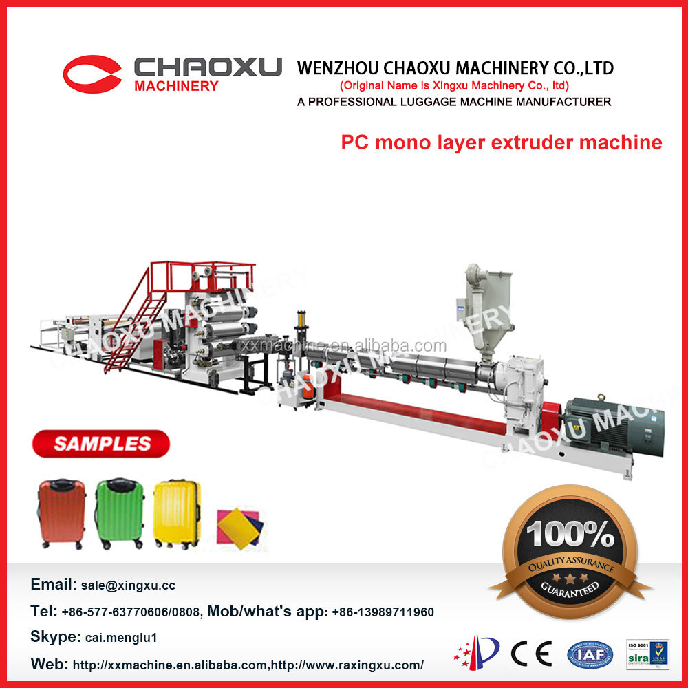 pc sheet production machines and plastic extruder machine