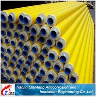 yellow jacket polyurethane foam insulation steel pipe mde in china